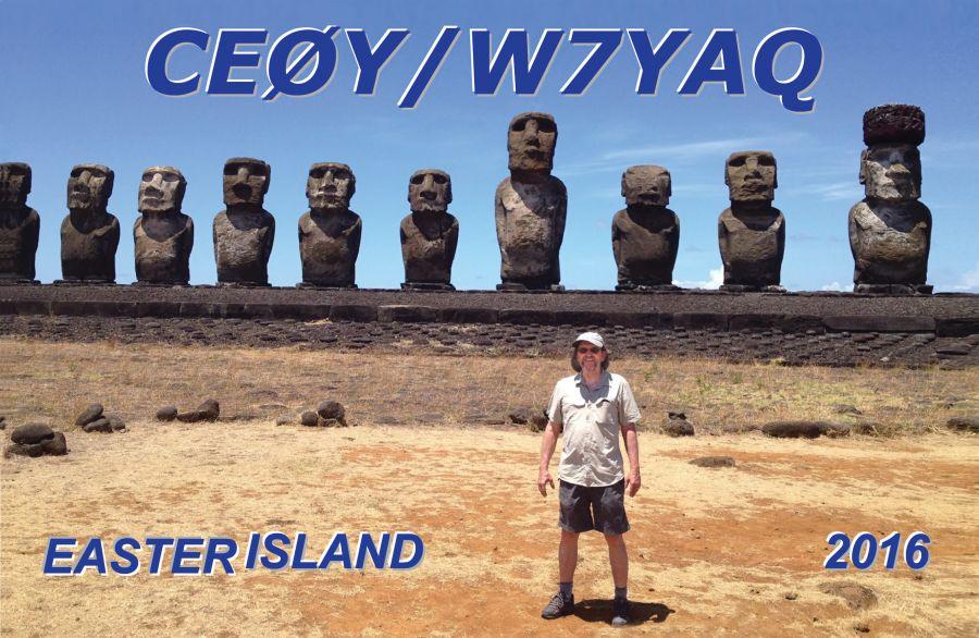 Остров Пасхи CE0Y/W7YAQ QSL