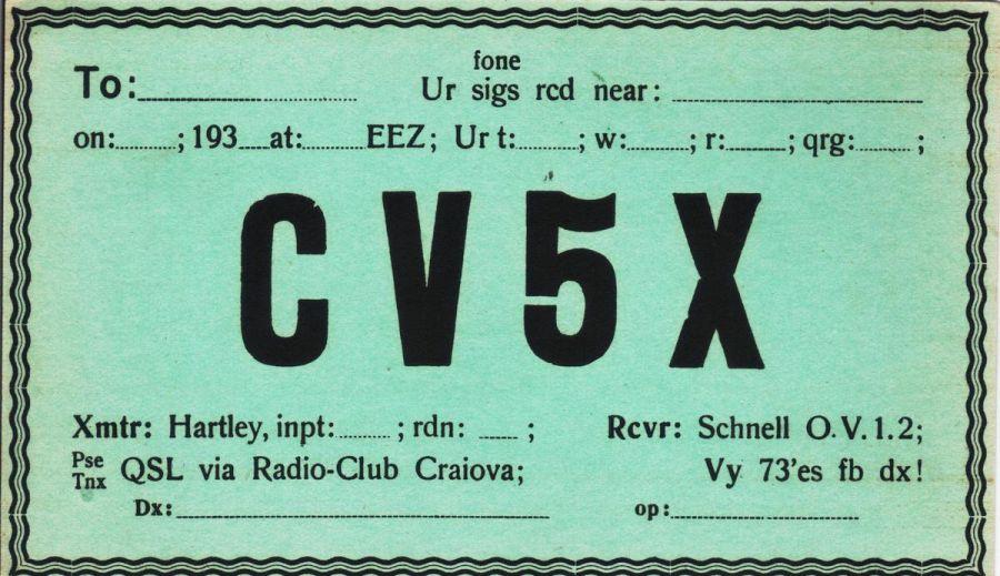 Буковина CV5X QSL