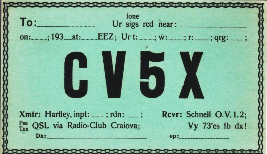 �������� CV5X QSL