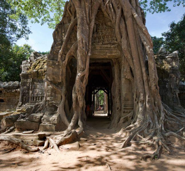 Камбоджа XU7AEX Туристические достопримечательности Храм Та Сом Ангкор