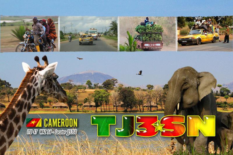 Камерун TJ3SN QSL карточка