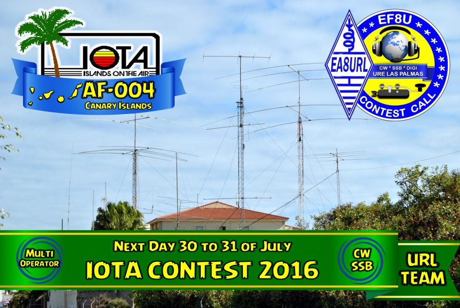 Canary Islands EF8U RSGB IOTA Contest 2016