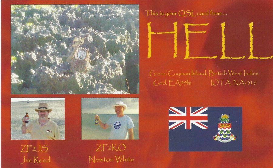 Cayman Islands ZF2KO ZF2JS QSL
