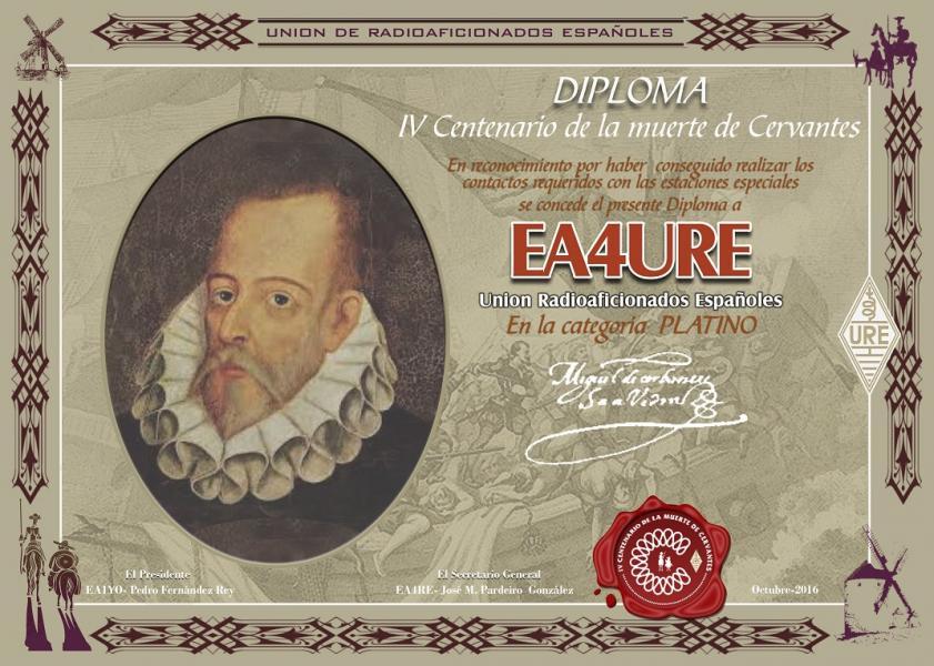 Cervantes Platinum Award