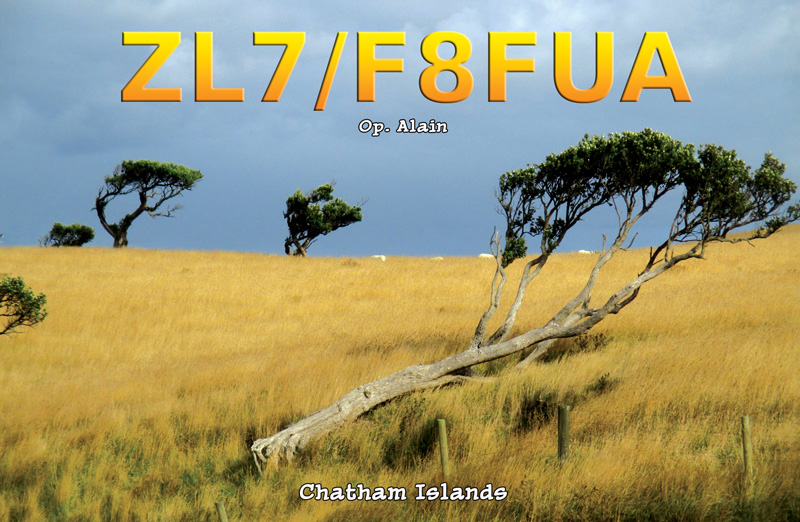 Chatham Islands ZL7/F8FUA QSL