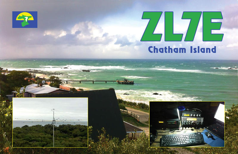 Chatham Islands ZL7E QSL