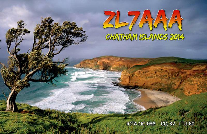 Chatham Islands ZL7AAA QSL