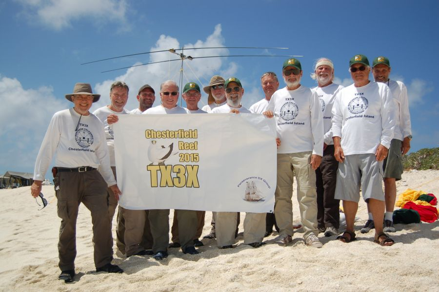 Chesterfield Islands TX3X DX Pedition Team K6GFJ N6XG N6HD K5GS W2LK K6TD ND2T W1SRD HA5AO N6HC AD6E WA6O