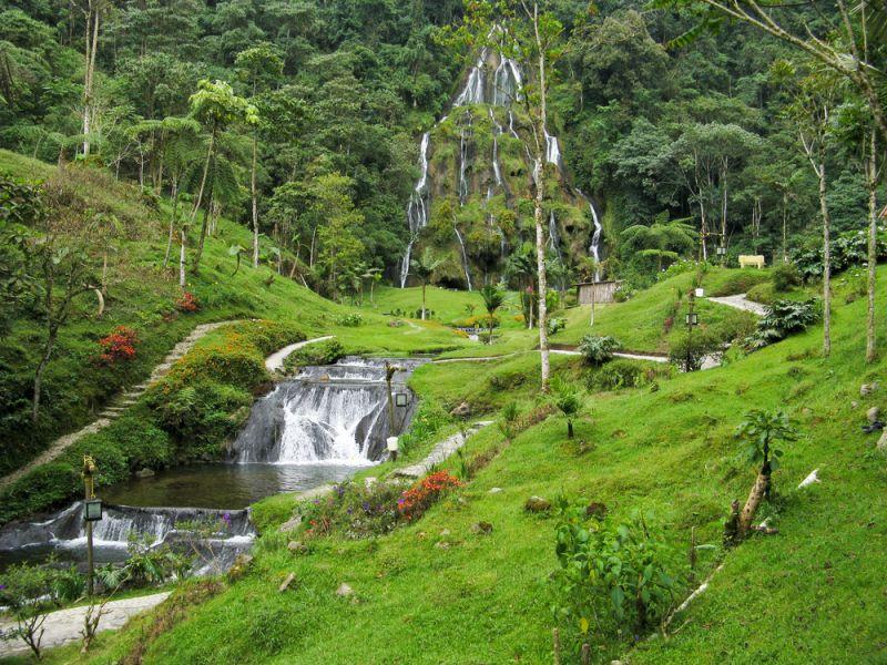Colombia 5J1E Tourist attractions spot Waterfalls at Santa Rosa de Cabal.