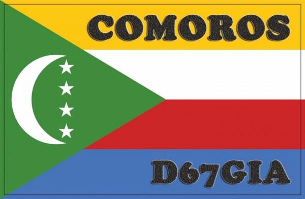Коморские острова D67GIA QSL