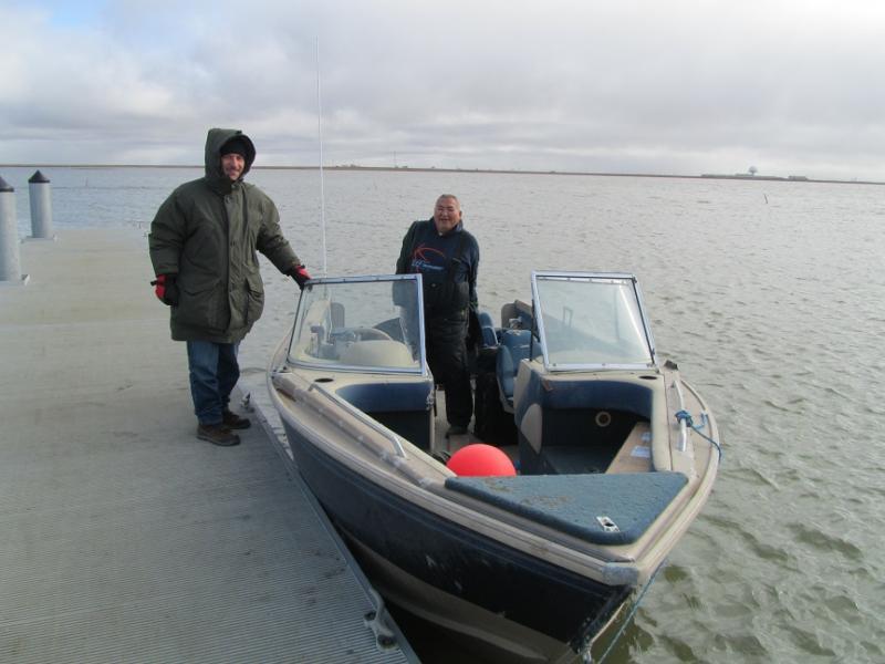 Cooper Island VE3LYC/KL7 Leaving Barrow with Billy Adams.