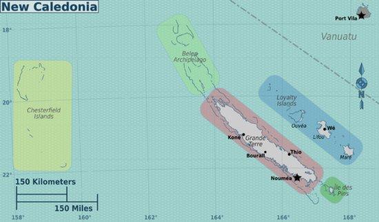 Остров Честерфилд TX3X DX Экспедиция Карта