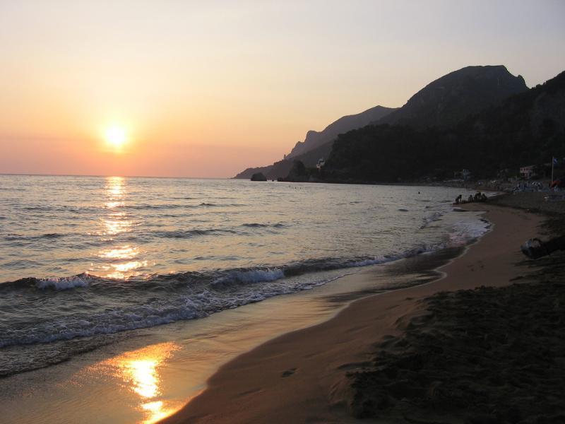 Corfu Island SV8/SQ3RX Tourist attractions spot Sunset