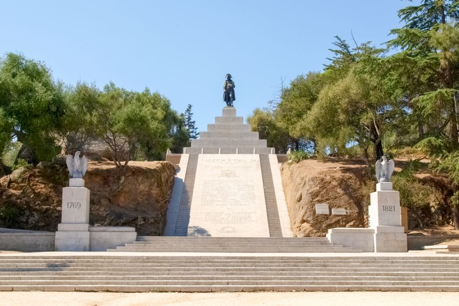 Corsica Island TK0C Tourist attractions spot Monument to Napoleon Bonaparte.