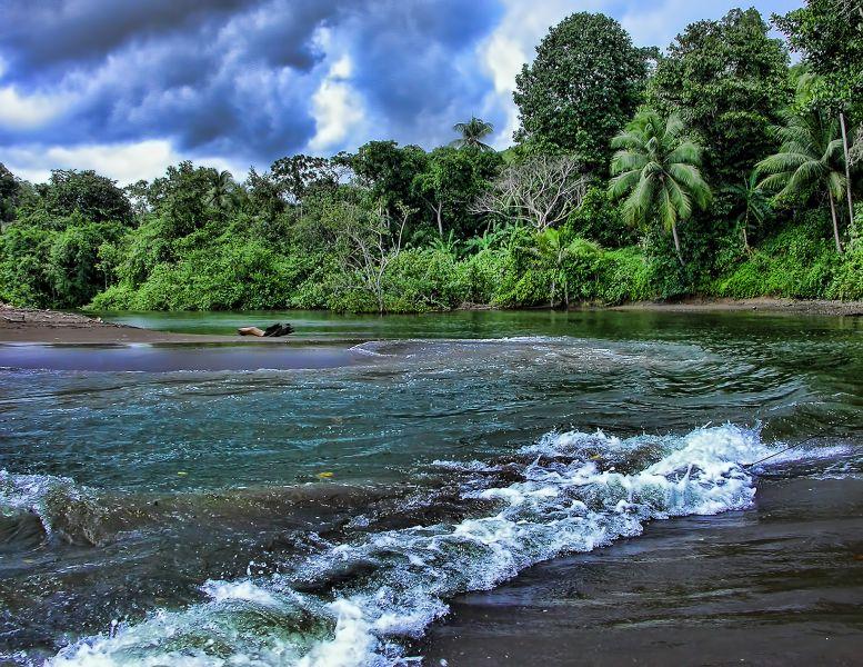 Costa Rica TI7 Tourist attractions spot Rio Aguajitas.