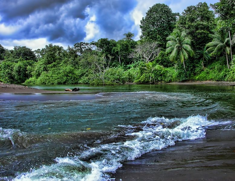 Costa Rica TI7 Tourist attractions spot Rio Aguajitas.