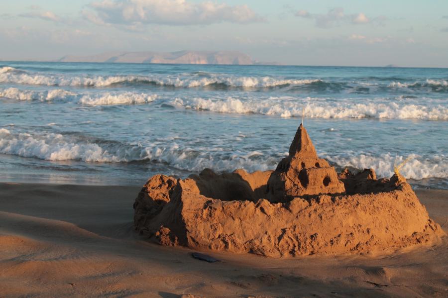 Crete Island SV9/F5MUX Tourist attractions spot Sunrise.