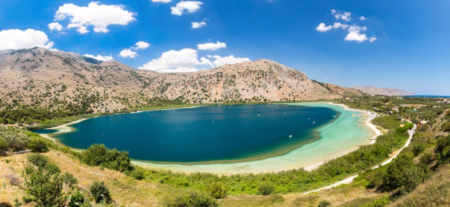Crete Island SV9/OK6DJ Tourist attractions spot Freshwater lake in village Kavros.