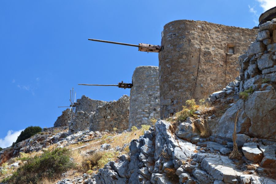 Crete Island SW9AA DX News Old traditional windmills at Lasithi plateau
