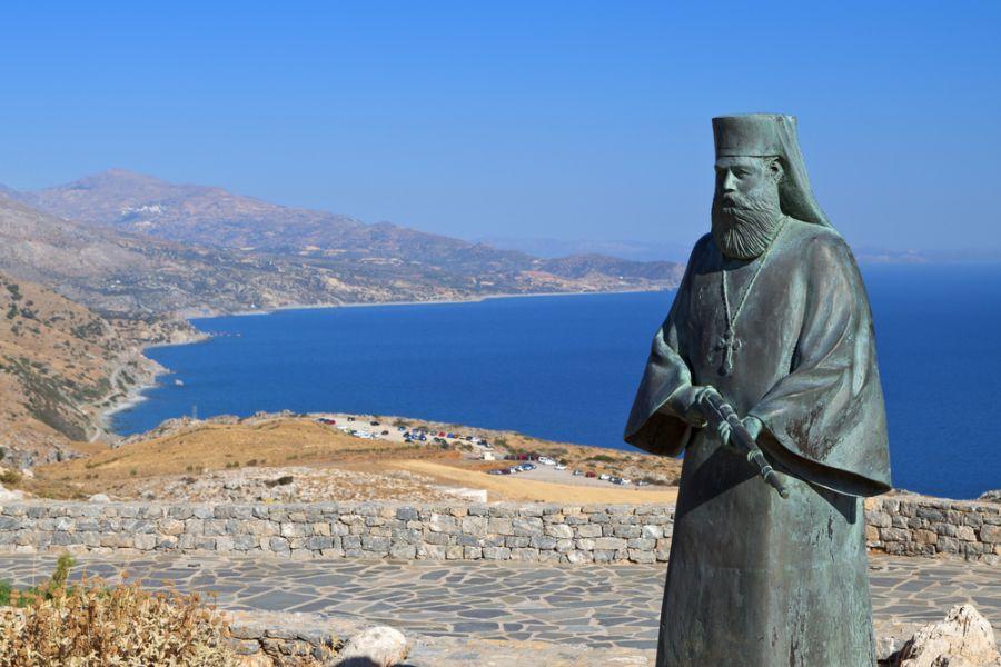 Crete Island SW9AA Tourist attractions spot Preveli area Libyan sea
