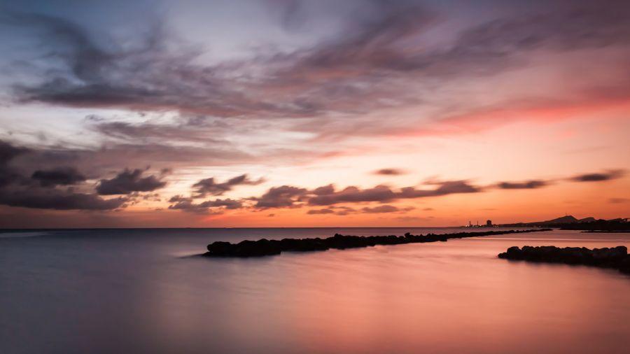 Curacao Island PJ2/NF9V DX News Sunset.