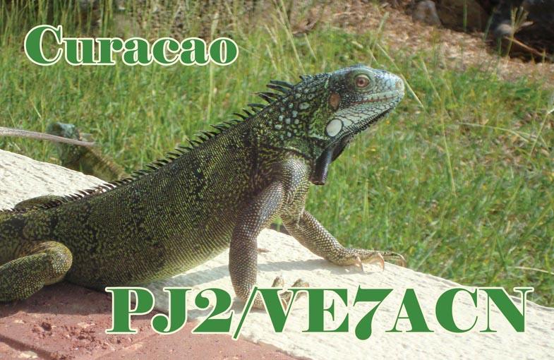 Curacao Island PJ2/VE7ACN QSL