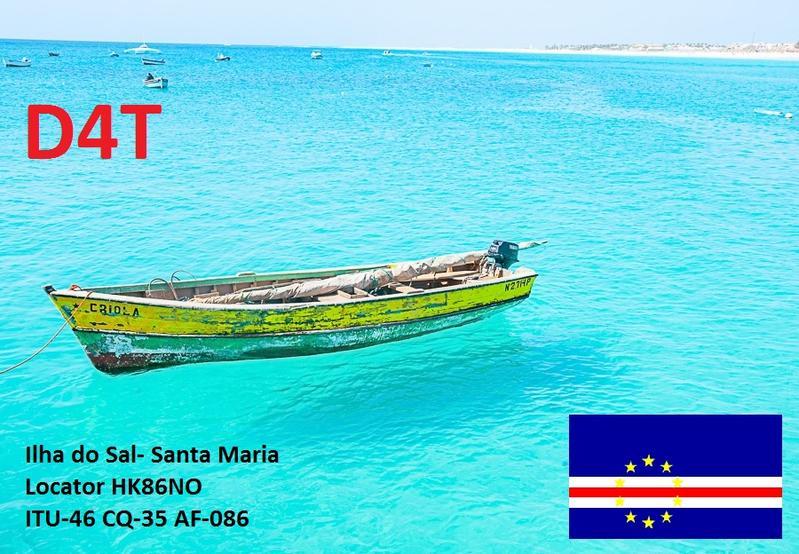 Остров Сал Кабо Верде D4T Логотип