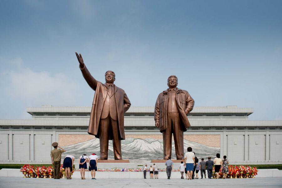 P5DX North Korea DPRK 2016 Mansu Hill, Grand Monument, Pyongyang.