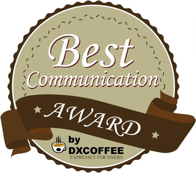 DX Coffee Best Communication Award Winner 2014