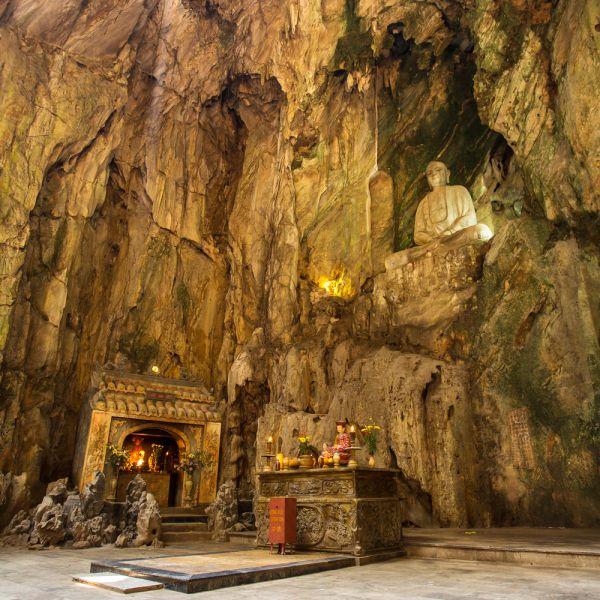 Da Nang Vietnam XV3TH Tourist attractions spot Buddhist pagoda in Huyen Khong cave in Marble Mountains.
