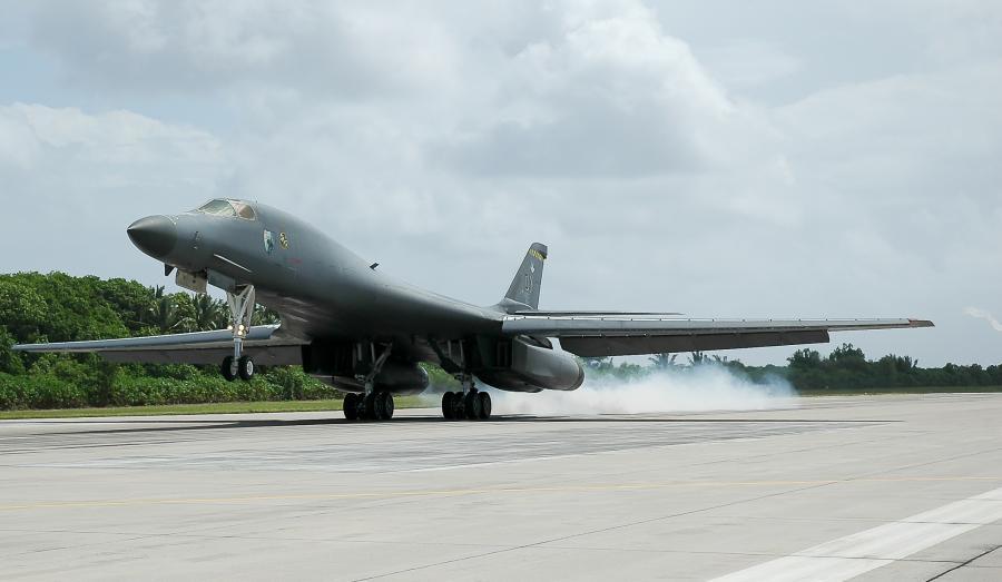 Diego Garcia Island VQ96JC Tourist attractions spot B-1 Bomber