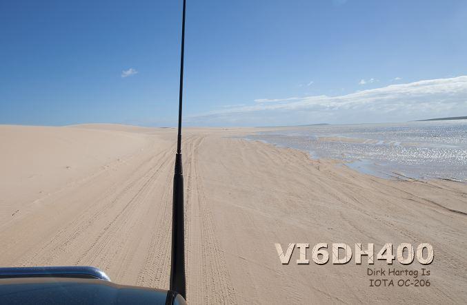 Dirk Hartog Island VI6DH400 QSL