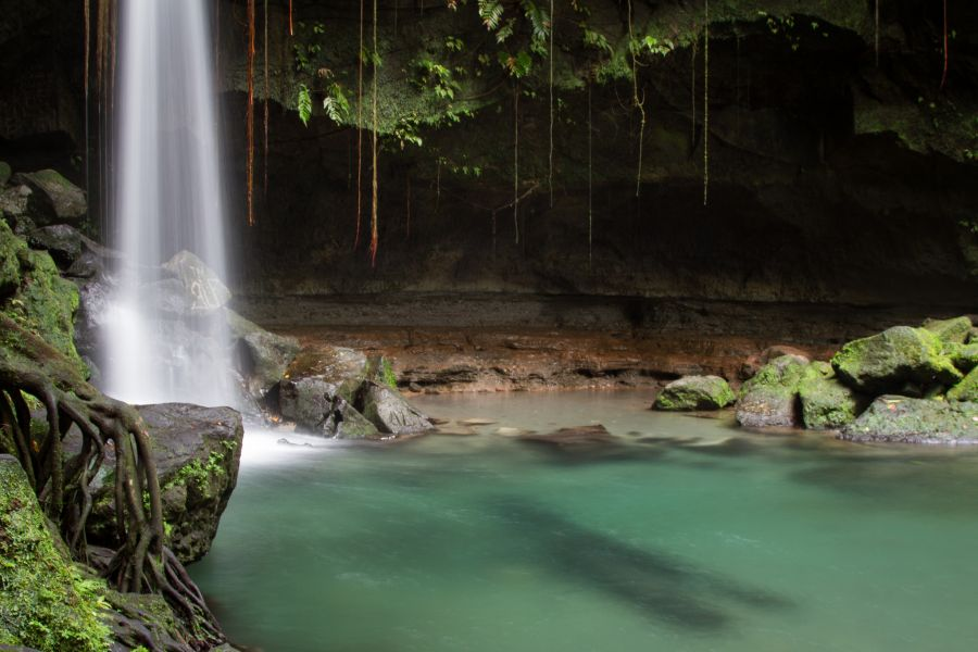 Dominica Island J77HQ J75KG J79WI J79IX DX News Emerald Pool Falls.