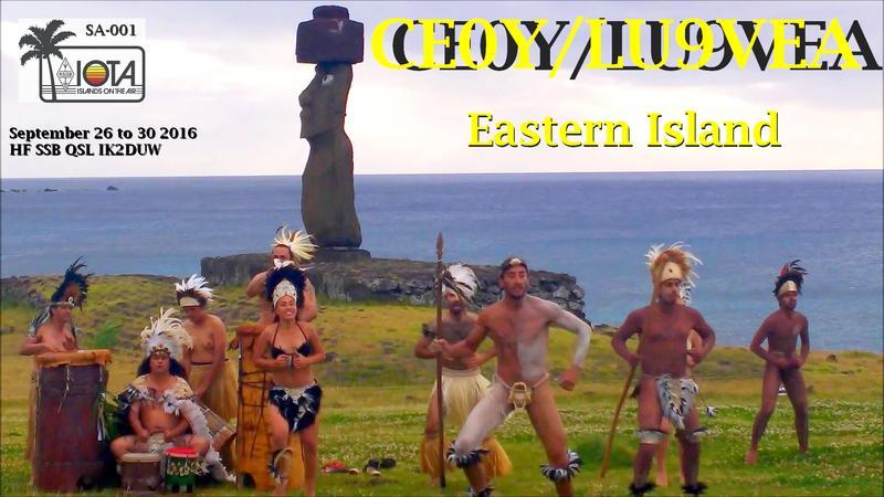 Остров Пасхи CE0Y/LU9VEA Логотип