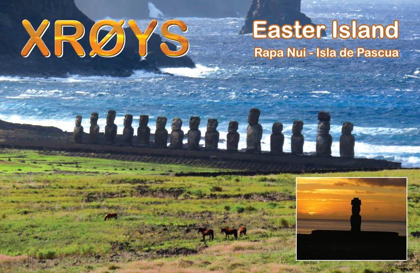 Easter Island XR0YS QSL