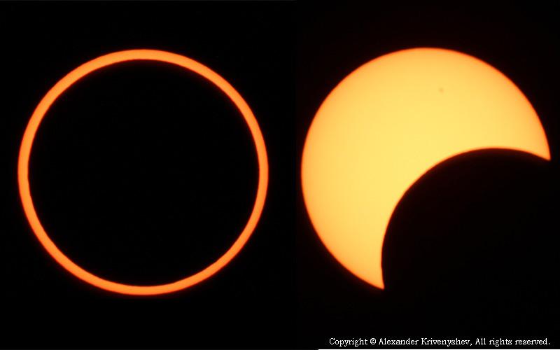 Солнечное затмение штат Нью Мексико США 2012