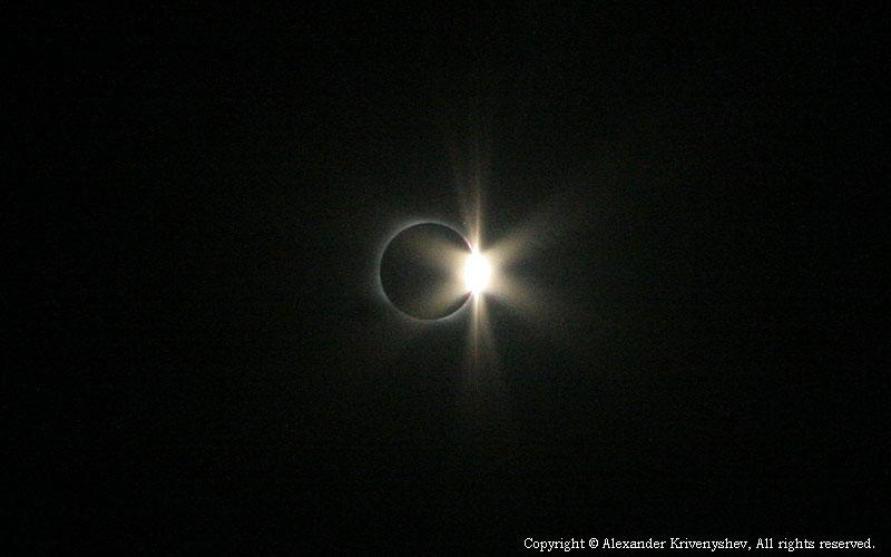 Солнечное затмение Сибирь 2008