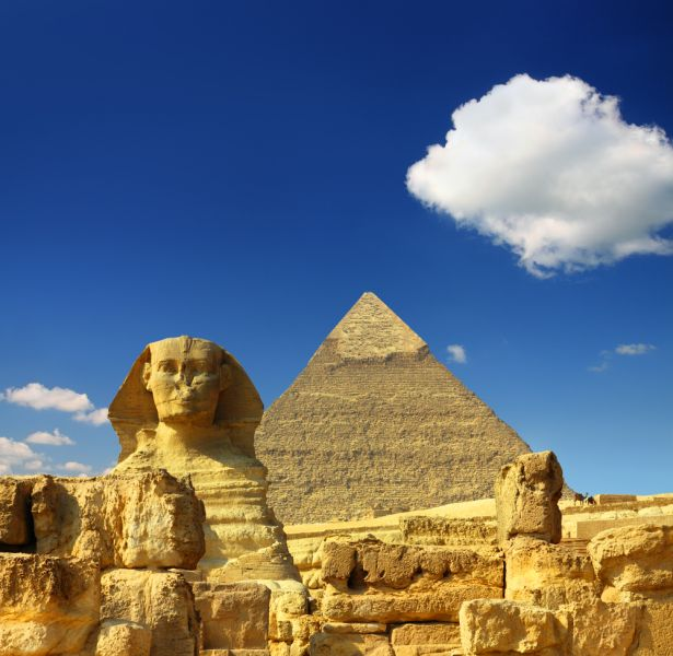 Egypt SU90IARU Cheops pyramid and sphinx.