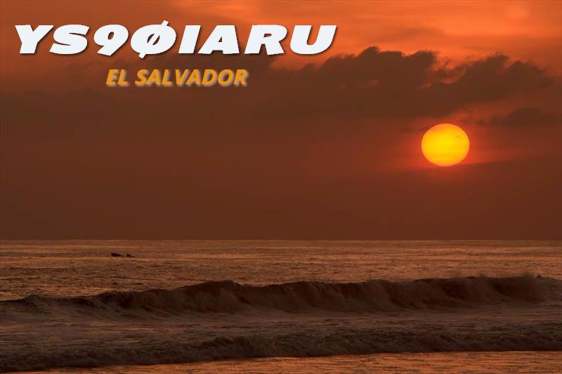El Salvador YS90IARU Club de Radioficionados del El Salvador QSL.