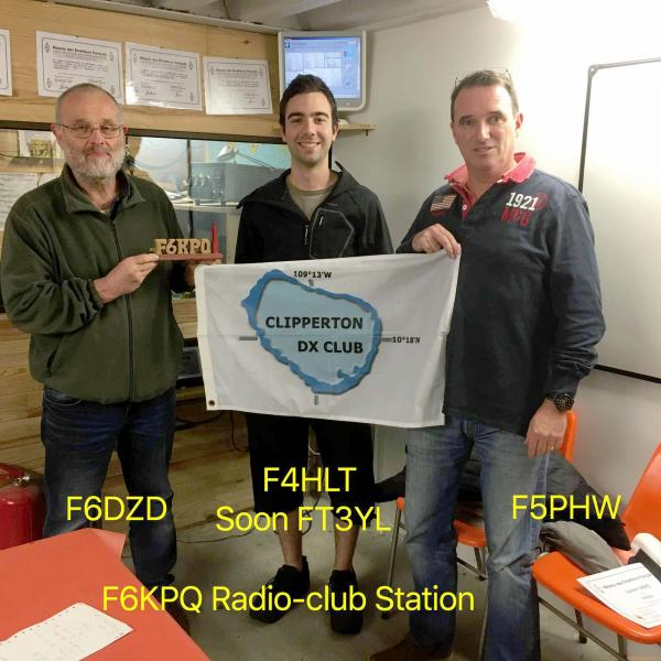 F6DZD F4HLT/FT3YL F5PHW на радиолюбительской клубной станции F6KPQ.