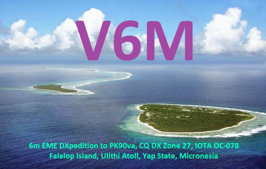 ������ ������� V6M QSL