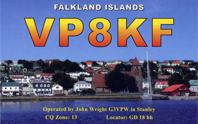 Falkland Islands VP8KF QSL