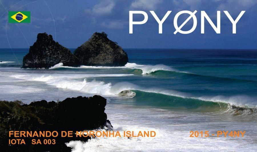 Fernando de Noronha Island PY0NY QSL