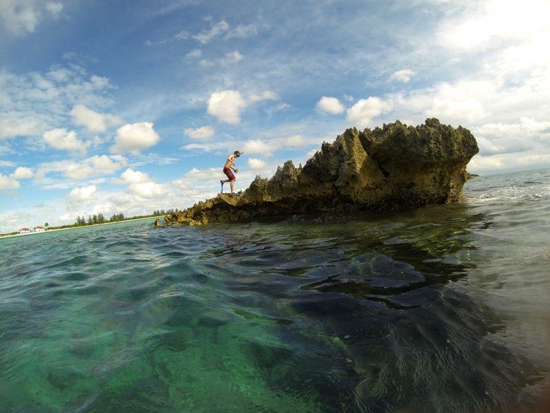 Freeport Bahamas C6AKQ C6AQL Coral Reef snorkeling adventures at Deadman's reef.