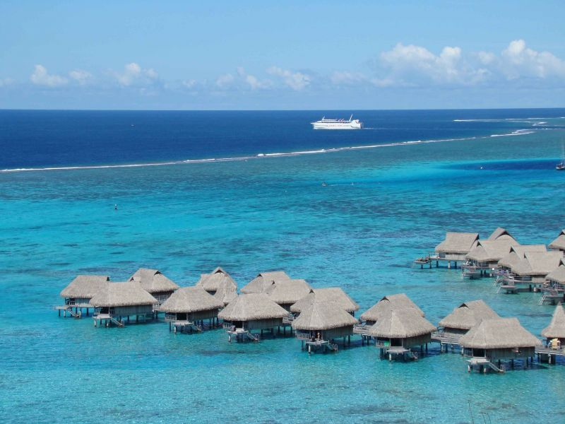 French Polynesia FO/KO6KO Moorea Island Tourist Attractions