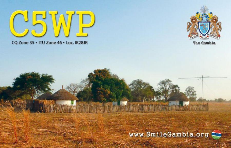 Гамбия C5WP QSL