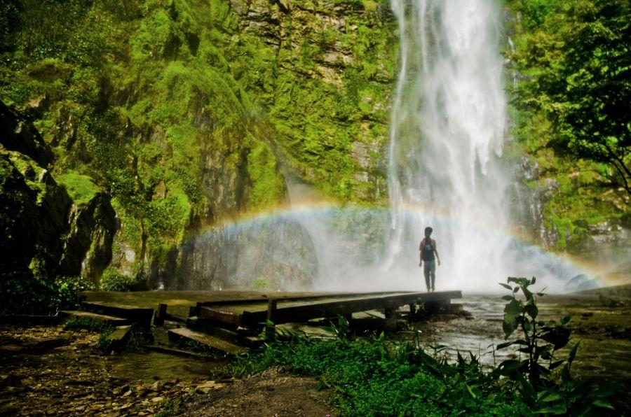 Гана 9G5AM Туристические достопримечательности Радуга Водопады Вили.