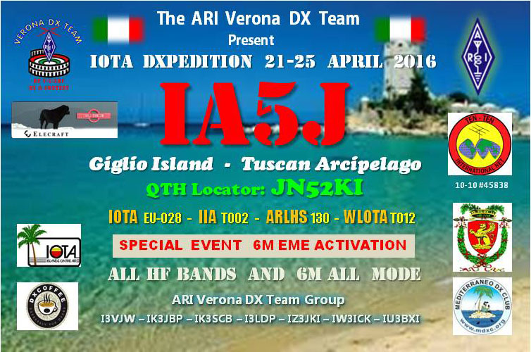 Giglio Island IA5J QSL