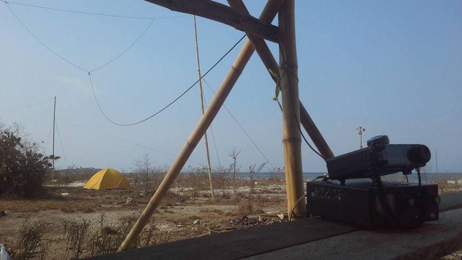 Остров Гили Геде YB9GV/P Фото антенна