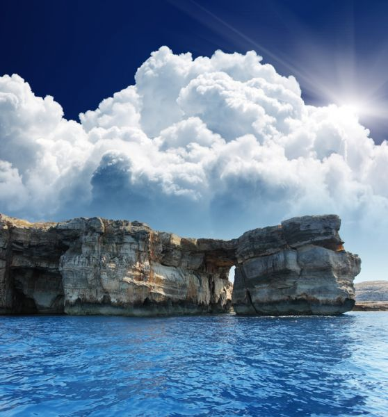 Gozo Island 9H3OG 9H3TX Attractions Famous stone arch on Gozo island